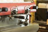Coffee machine (After use) — Stock Photo