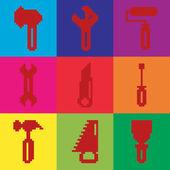 Dom narzędzi ikonę — Wektor stockowy