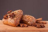 Bread and cinnamon — Stock Photo