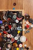 çok renkli düğmeler — Stok fotoğraf