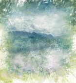 Akwarela abstrakcyjnego obrazu gór — Zdjęcie stockowe