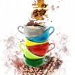 Watercolor Image Of Coffee Cups — Stock Photo #53589339