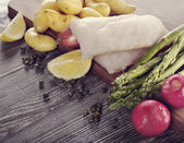 Raw Cooking Ingredients — Stock Photo