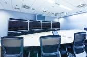 Teleconferencing, video conference and telepresence business mee — Stock Photo