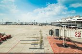 BANGKOK THAILAND - FEBRUARY 8: Airport  terminal names Don Muang — Stock Photo