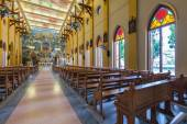PATHUMTANI, THAILAND - FEBRUARY 28 : The interiors of Catholic c — Stok fotoğraf