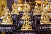 Golden Buddha statue names Buddhachinaraj sit on layer respectiv — Stock Photo