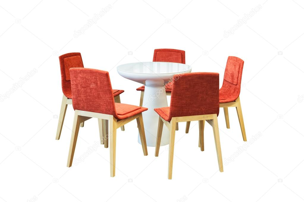 Riunione tavolo rotondo e sedie per ufficio rosso per for Tavolo rotondo e sedie