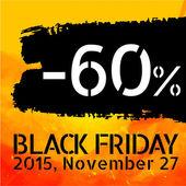 Black Friday discount -60 percent — Stock Vector