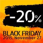 Black Friday discount -20 percent — Stock Vector