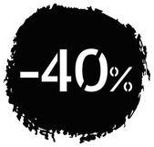 Kortingspercentage — Stockvector