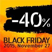 Black Friday discount -40 percent — Stock Vector