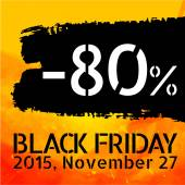 Black Friday discount -80 percent — Vettoriale Stock