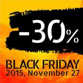 Black Friday discount -30 percent — Stock Vector