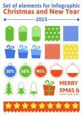 Infografía de navidad — Vector de stock