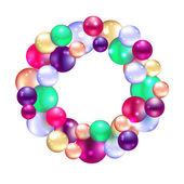 Christmas wreath with fir and holly — Cтоковый вектор