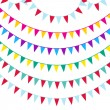 Bunting and garland set — Stock Vector #60665891