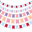 Bunting and garland set — Stock Vector #60666415
