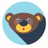 Bear flat icon — Stock Vector