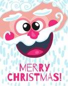 Santa Claus lächelndes Gesicht — Stockvektor