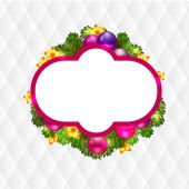Christmas wreath with fir — Stock Vector