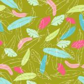 Seamless pattern with  feathers. — Stock Vector
