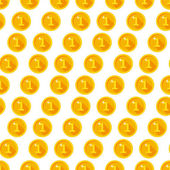 Golden coins pattern — Stock Vector