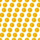 Gouden munten patroon — Stockvector