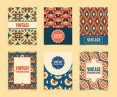 Template. Vintage creative cards. — Vetor de Stock