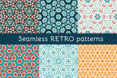 Set of six ethnic seamless patterns.  — Stock Vector