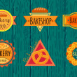 Collection of vintage retro bakery logo  — Stock Vector #74625331