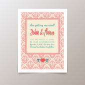 Wedding invitation card with geometric vintage — Cтоковый вектор