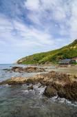 Green island and sea nature landscape — Stock Photo