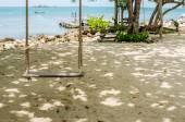 Swing on beach — Stock Photo