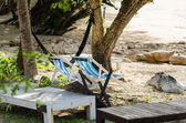 Beach colorful chair — Stock Photo
