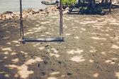 Swing on beach vintage — ストック写真