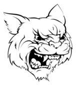 Wildcat mascot character — Stock Vector