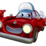 Car mechanic cartoon character — Stock Vector #78014094