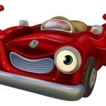 Thumbs up cartoon car — Stock Vector #80361690