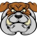 Bulldog mascot face — Stock Vector #80602406