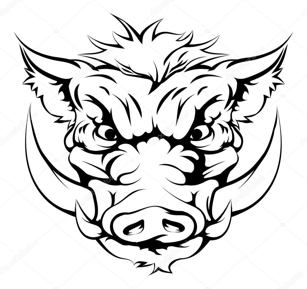 Visage de mascotte sanglier image vectorielle krisdog for Ro draw