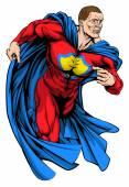 Strong superhero — Stock Vector