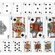 Постер, плакат: Poker size Spade playing cards plus reverse