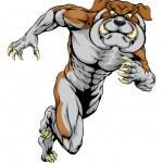 Running Bulldog Mascot — Stock Vector #82442008
