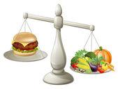 Healthy eating balanced diet — Stock Vector