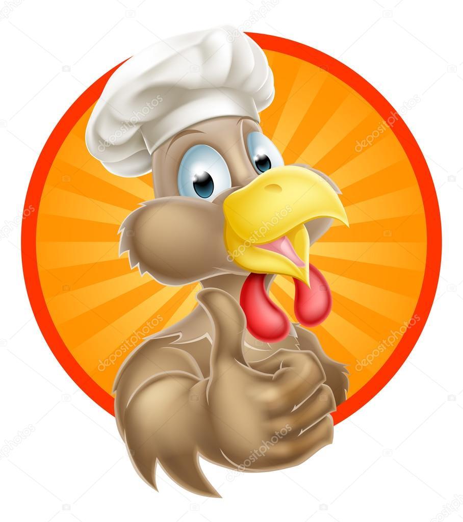 Funny chicken cartoon logo