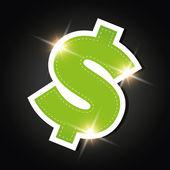 Money icon - dollar — Stock Vector