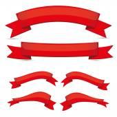 красная лента установить — Cтоковый вектор