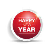 Happy new year 2015 button — Stock Vector