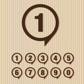 Numbers set. Vector illustration. — Stock Vector